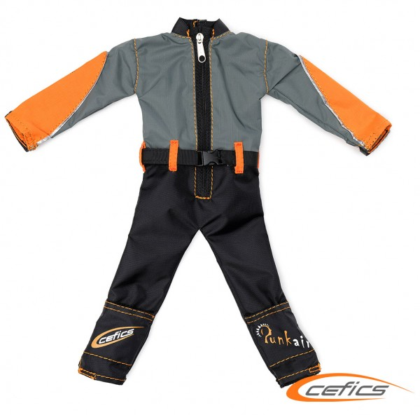Punkair Overall XL Emotion Line Grau/Orange