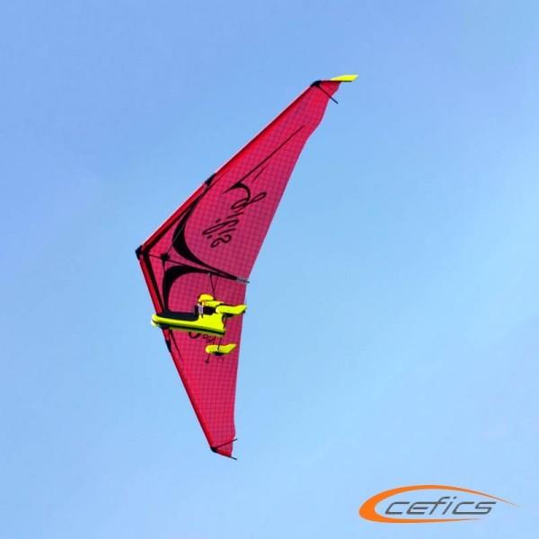 PunkAir Agilis Rot Bundle 2: AIRC2fly Agilis inkl. Graupner Vector Unit extreme und Sender MZ4