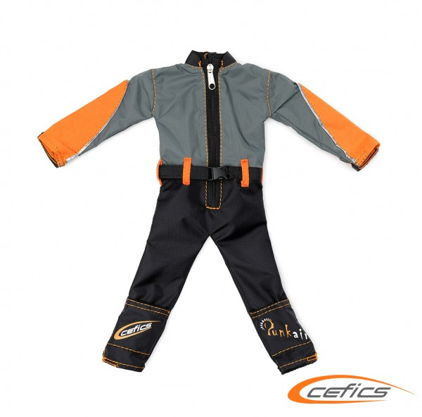 "Overall für Pilot Peer L ""Emotion Line"" orange/grau"