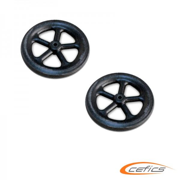 Ultraleichte Räder Kunststoffl 32/4,8mm 2 g 1,5 mm Welle 2 Stück