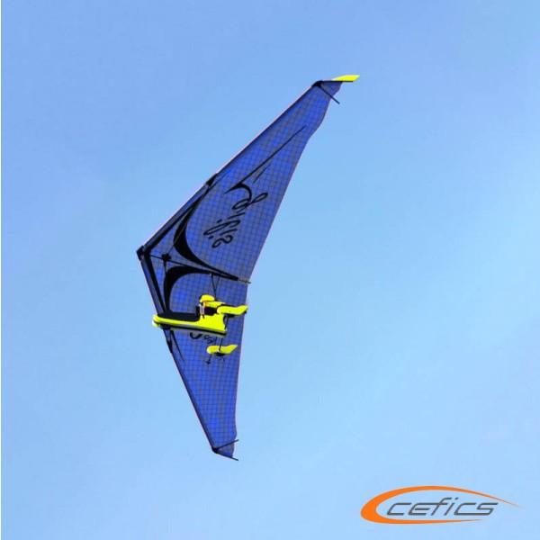 PunkAir Agilis Blau Bundle 2: AIRC2fly Agilis inkl. Graupner Vector Unit extreme und Sender MZ4