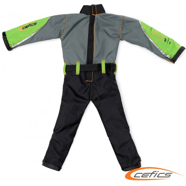 Punkair Overall XL Emotion Line Grau/Grün